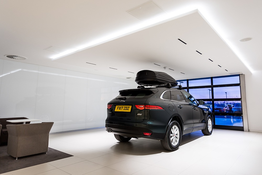 Your new car awaits you. The luxurious private handover rooms at Duckworth Jaguar Land Rover Boston.
