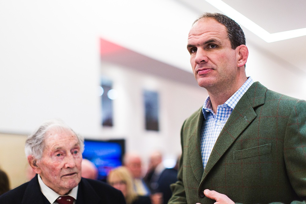 Martin Johnson, chatting with guests throughout the evening.