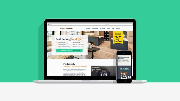 New site launch - Floors for Paws