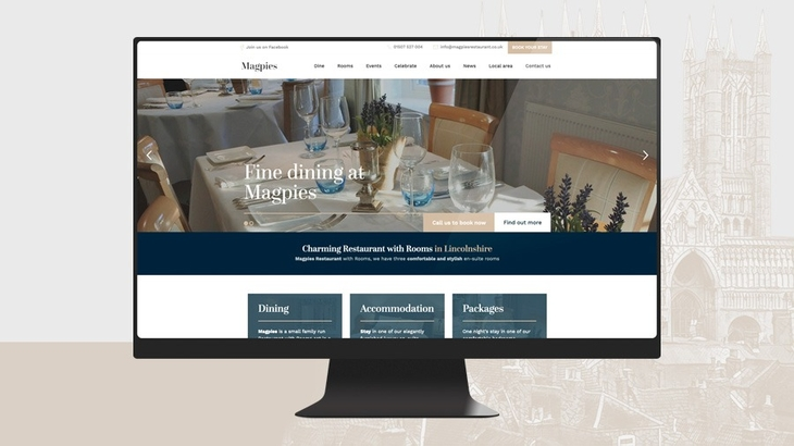 New website launch - Magpies Restaurant with Rooms